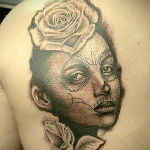 Catrina black and gray #tattoowork #tattooworkers #tattoodrawing #tattooart #tattooartist #tattooartwork #worldofpencils #sketch #sketchbook #thedoud #timetowork #drawing #draw #catrina #clowngirl #catrinatattoo#graycolor #graytattoo #catrina #thedoud