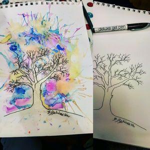 #watercolortattoos #watercolortattoo #watercolor #watercolorartist #watercolorart #watercolortattooartist #WatercolorInspiration #watercolortree