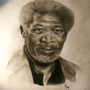 Lil sketch I drew up #phoenixblaze #portrait #pencildrawing #pencilart #sketch #morganfreeman #art #fineart #drawing #tattoo