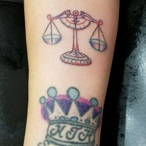 Library scale tattoo I did today