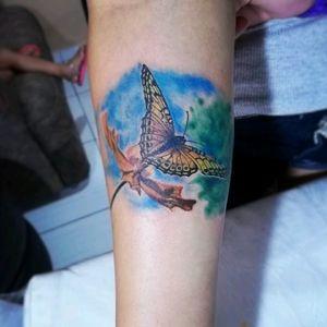 #tattoo #tattooborboleta #borboleta #tattoocolorida #tatooartist #tattooink #tattooflor #tattooflower #flower #thiagotattoo #thiagosilvatattoo