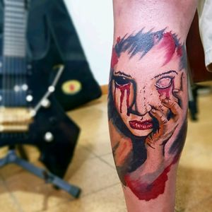 #coloredtattoo #realistic #tattoo #halloweentattoo