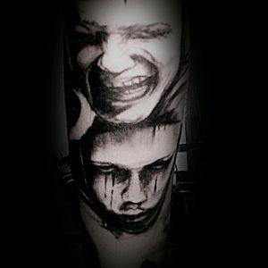 #tattooart #tattooartist #tattooodessa #veter #blackandgrey #realismsketch #realistikink #realistikart #masks #masktattoo #tattooonhand #maskidea #tattooideas #tattoodesign #tattoosketch #awesome #awesomedesign #sadandsmile #smiletattoo #boyswithtattoos