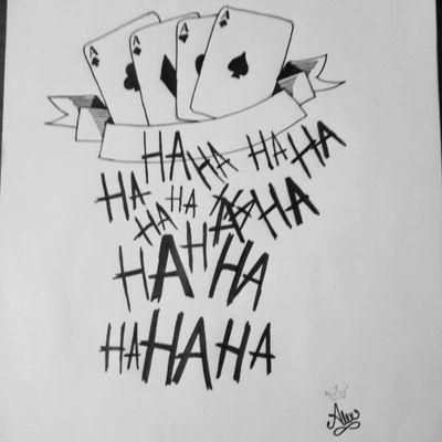 #chile #blackwork #byAlexxorcista378 #Joker #SuicideSquad #cards #blackandgray