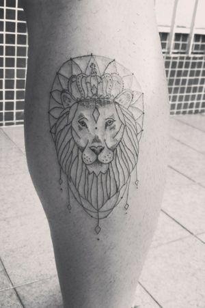 Leãozinho Fine line 🦁