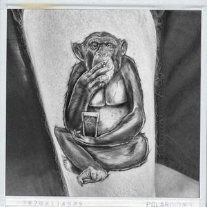 #monkeytattoo #MonkeyBob #monkey #smoking #coffeelover #monkeybusiness #tattooart