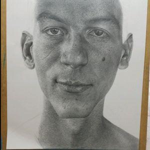 #drawing #pencil #portrait #skin #philosophy