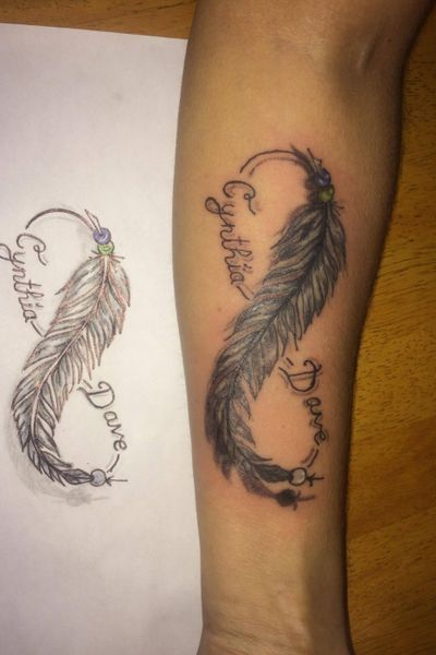 #infinity #feathers #childname