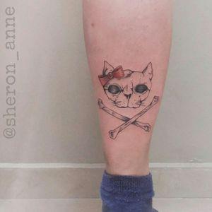 #skulltattoo #catskulltattoo #fineline #finelinetattoo #BrazilianTattooArtists #femaletattooartist #SheronAnne