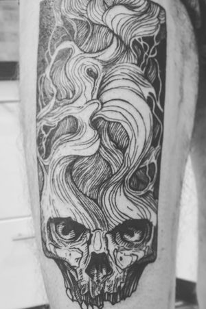 #skull #tattoo #tattooart #lineart #bratislava #slovakia #tattooartist #black #lines #intenzetattooink #blacksumi