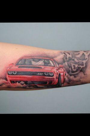 #Dodge #Challenger #SRT #Demon #Musclecar #Drag #DragRace 840HP #MOPAR #MOPARCar #mopartattoo #USA