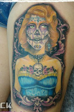 #catrinatattoo #catrina #marilynmonroe #skull #skulltattoo #zentattoo