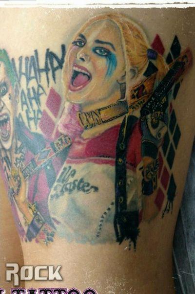 #harleyquinn #harleyquinntattoo #arlequina #tatuagemarlequina #dccomics #dccomicstattoo #SuicideSquad #esquadraosuicida #margotrobbie #zentattoos