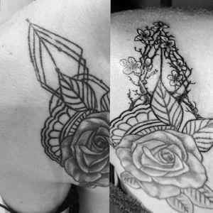 #cover #coveruptattoo #bratislava #slovakia #tattooartist #black #lines #intenzetattooink #blacksumi #sakura #tattoo #tattooart #lineart