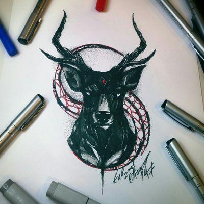 Тату эскиз - Олень. Эскиз нарисован маркерами copic и лайнерами Superior. Тату мастер Вадим. Студия художественной татуировки и пирсинга Evolution. www.evotattoo.ru. Тел./WhatsApp:89255143553. #deer #tattoo #tattoos #deer_tattoo #black_work #dot_work #evolution #tattoo_evolition #олень #тату_эскиз #тату_эскиз_олень #эскиз_оленя #нарисовать_эскиз #дотворк #блэкворк #тату_дизайны #тату_мастер_вадим #эскизы_на_заказ #студия_тату_evolution @tat2atom