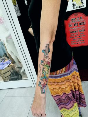 Chefs tattoo #chefknife #knifetattoo #colortattoo