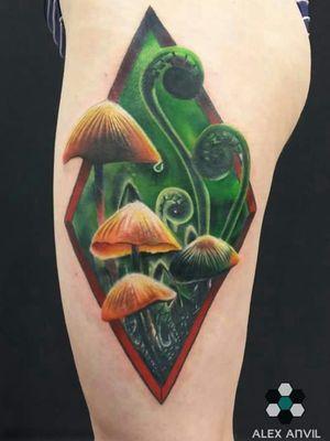 #mushroom #mushrooms #mushroomtattoo #amsterdamtattoo #colortattoo