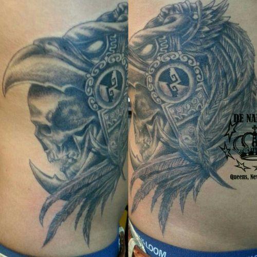 Aztec tattoo INFIERNO DE NADIE Queens NY