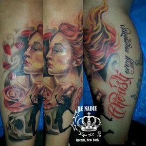 Cherish tattoo INFIERNO DE NADIE Queens NY