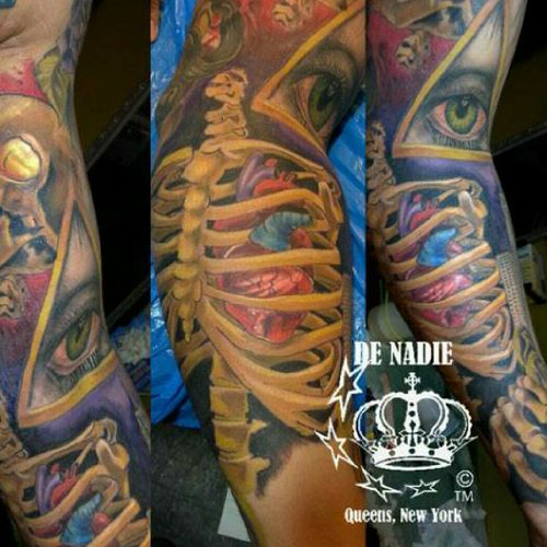 Colorbomb tattoo INFIERNO DE NADIE Queens NY