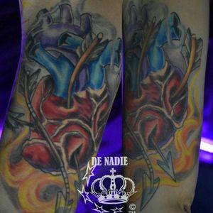 Heart tattoo Queens INFIERNO DE NADIE NYC