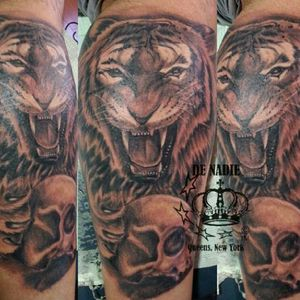 Tiger tattoo INFIERNO DE NADIE QUEENS NY