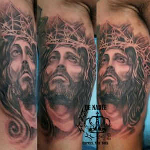 Jesus tattoo INFIERNO DE NADIE Queens NY