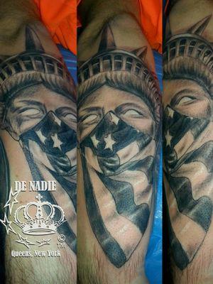 Libert tattoo INFIERNO DE NADIE Queens NY