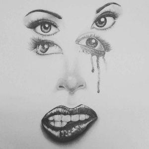 #woman #women #drawing #eyes #mouth