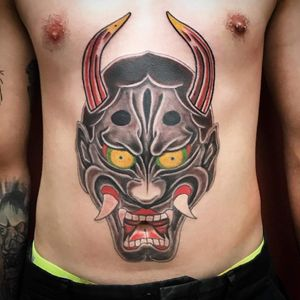Hannya stomach peice done by Souryou