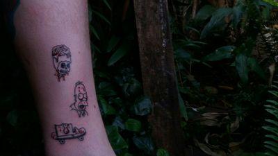 The (Simpsons) Zombies! #tattoo #tatuagem #TheSimpsonstattoo #thesimpsons #zombie #zombietattoo #emestattooshop