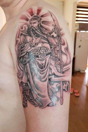 First tattoo, Guan yu #chinesetattoo