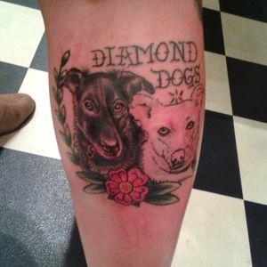 Diamond Dogs tattoo by @baznjosh