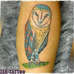 Zen Tattoo - Coruja. #owl #coruja #owltattoo #zentattoo #mrrock #oblogdozen #taquaritinga #taqua #tattoo #tatuagem #tatouage #tatuaje #tatuaggio #instattoo #inklovers #inklife #tattoolife #tattoolovers