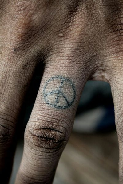 #peace #microtattoo #dotwork #stickandpoke #BlackworkTattoos #blackwork #handpoke