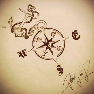#anchor #anchortattoo #draw #drawpencil #compass #compasstattoo