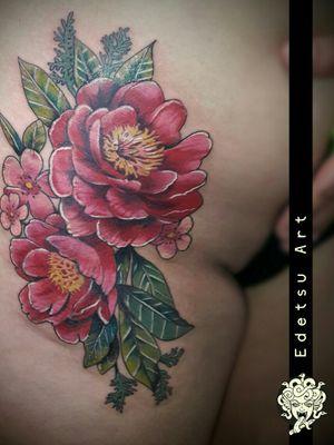Sexy hhi flower tattoo. Red camelias