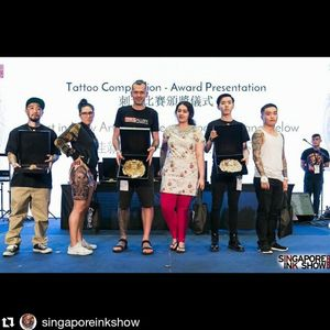 First place. Best colour New artist category. Singapore expo
