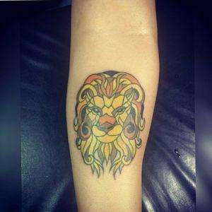 Leão mosaico #lion #colours #mosaic