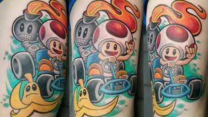 "Toad on his kart. Total 4h20m. 8'×10"" #toad #kart #mariokart #mariokarttattoo #toadkarttattoo #toadtattoo #nintendotattoo #nintendotoad #nintendomariokart #ohmygod #fourtwenty #4h20m #colortattoo #cartoontattoo #gamer #gamertattoo #nintendogamer #nintendogamertattoo #gamerboy #game #gametattoo #salusatattoo #salusaplanet #salusasecondus #salusalove #newschool #newschooltattoo #newschoolart #newschoolartist #newschool4life #newschooler #newschoolcartoon"