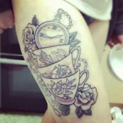 #cups #flora #clock #flowers