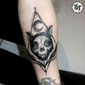 #blackworktattoo #tattoocat