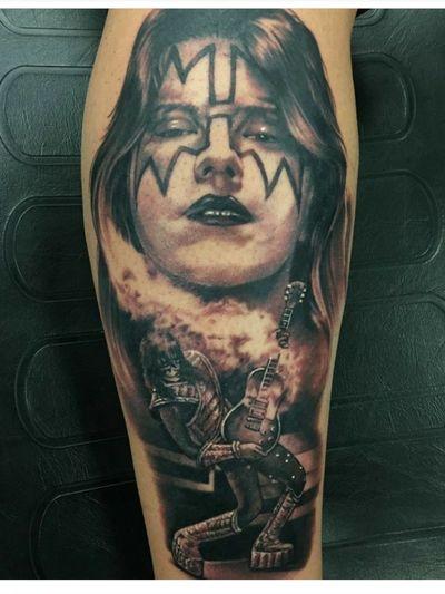 #AceFrehley by #ChristianBuckingham #Kiss #Spaceman #guitar #hardrock #heavymetal #metal #rock #rocknroll #music