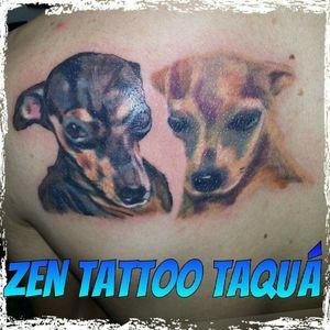 Zen Tattoo - Cãezinhos! #zentattoo #mrrock #oblogdozen #instattoo #instadog #doglovers #tattoo #tatuagem #tatuaje #tatouaje #tatuaggio #inked #inklovers #inklife #taquaritinga #taqua