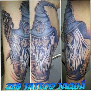 Zen Tattoo - Mago. #mago #magicians #wizard #zentattoo #mrrock #oblogdozen #tattoo #tatuaje #tatuagem #taquaritinga #taqua #eletricink #everlastcolors #inklovers #inked #ink #instattoo