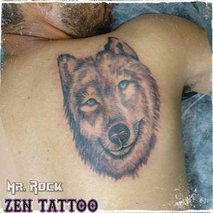 Zen Tattoo - Lobo. Em andamento. #zentattoo #mrrock #oblogdozen #lobo #wolf #tatuagem #tattoo #tatuaje #eletricink #everlastcolors #inked #inklovers #instattoo #taquaritinga #taqua