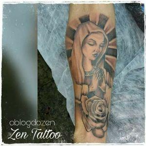 Zen Tattoo - Nossa Senhora. #nossasenhora #maria #zentattoo #mrrock #oblogdozen #tattoo #tatuagem #tatuaje #taquaritinga #taqua #instattoo #facetattoo #eletricink #everlastcolors #inked #inklovers #tattoolovers