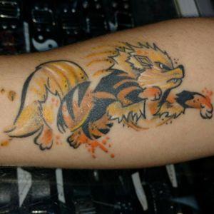 Cicatrizada! #pokemon #zentattoo #tattoolover #instattoo #watercolortattoo #watercolor