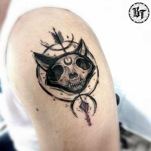 #blackworktattoo #tattoogato