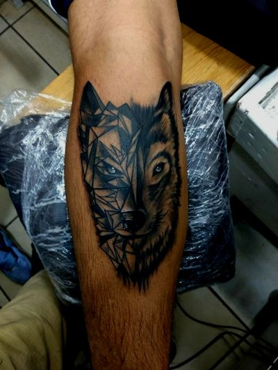 #mexican #realism #wolftattoo